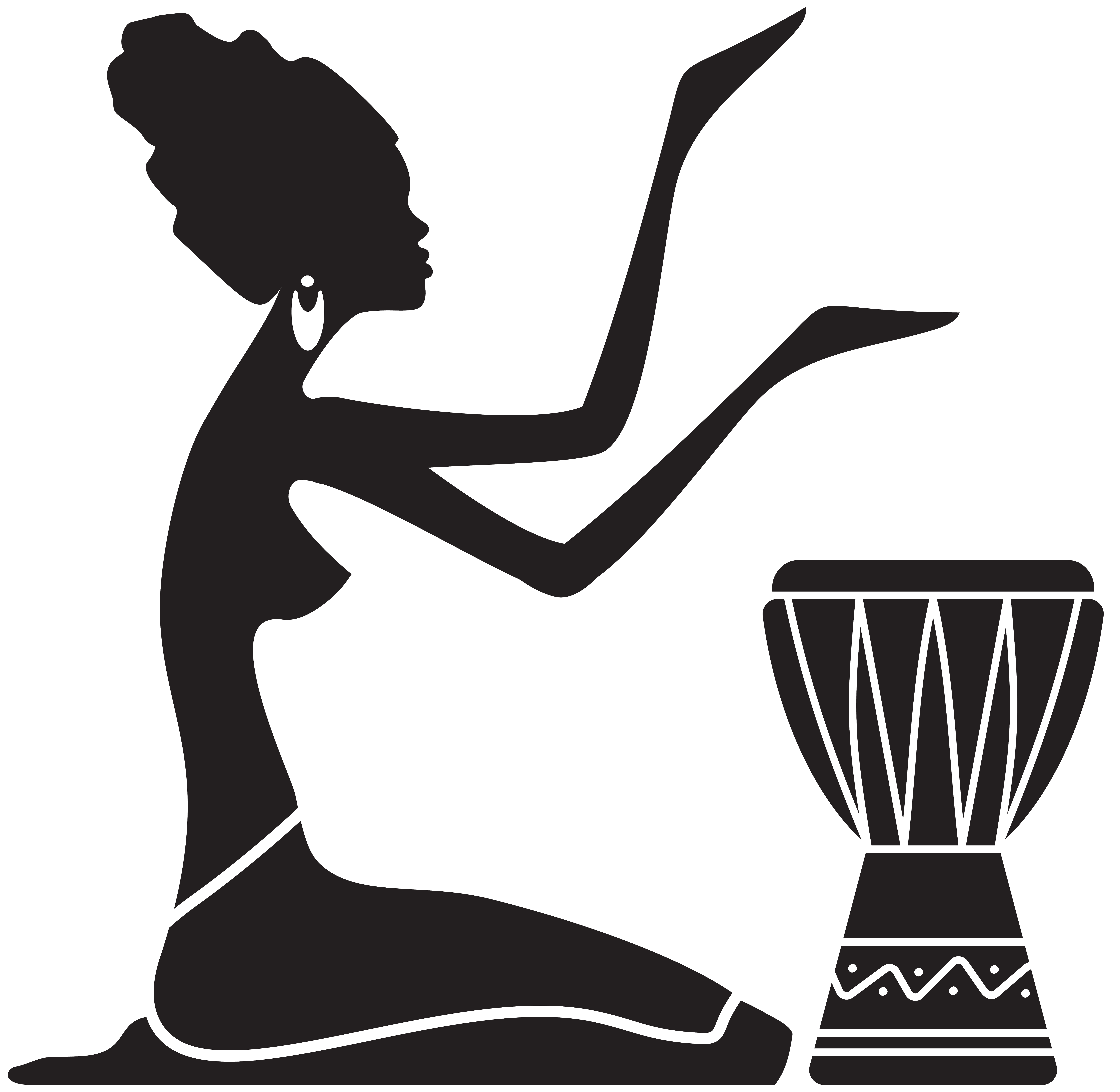 image library stock Women silhouette png clip. African clipart