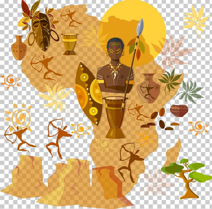 png freeuse library Africa culture tribe illustration. African clipart cultural