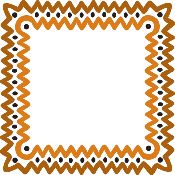 clip art transparent Free wave gold in. African clipart frame.
