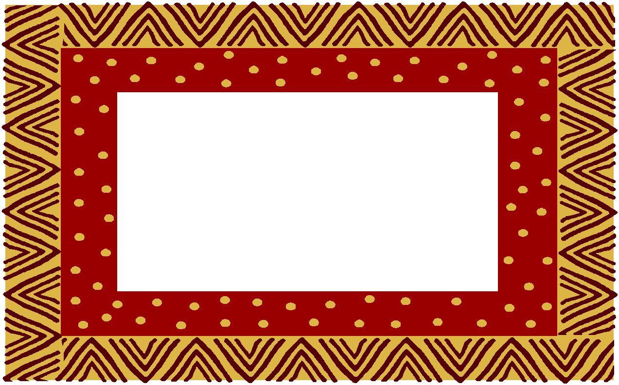 free download Border design . African clipart frame.