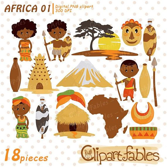 clipart download Africa zulu tribe digital. African clipart tribal