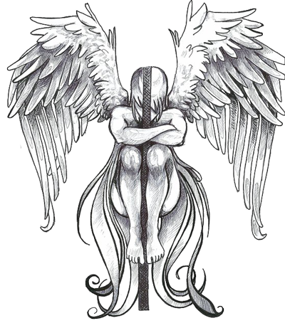 image black and white stock Valkyrie drawing angel. Download tattoos png clipart