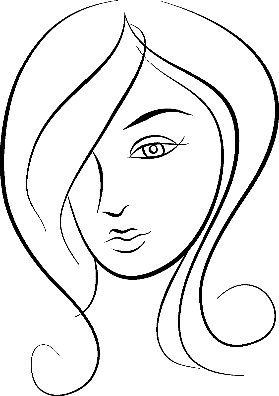 clip art freeuse stock Girls Faces Drawing at GetDrawings