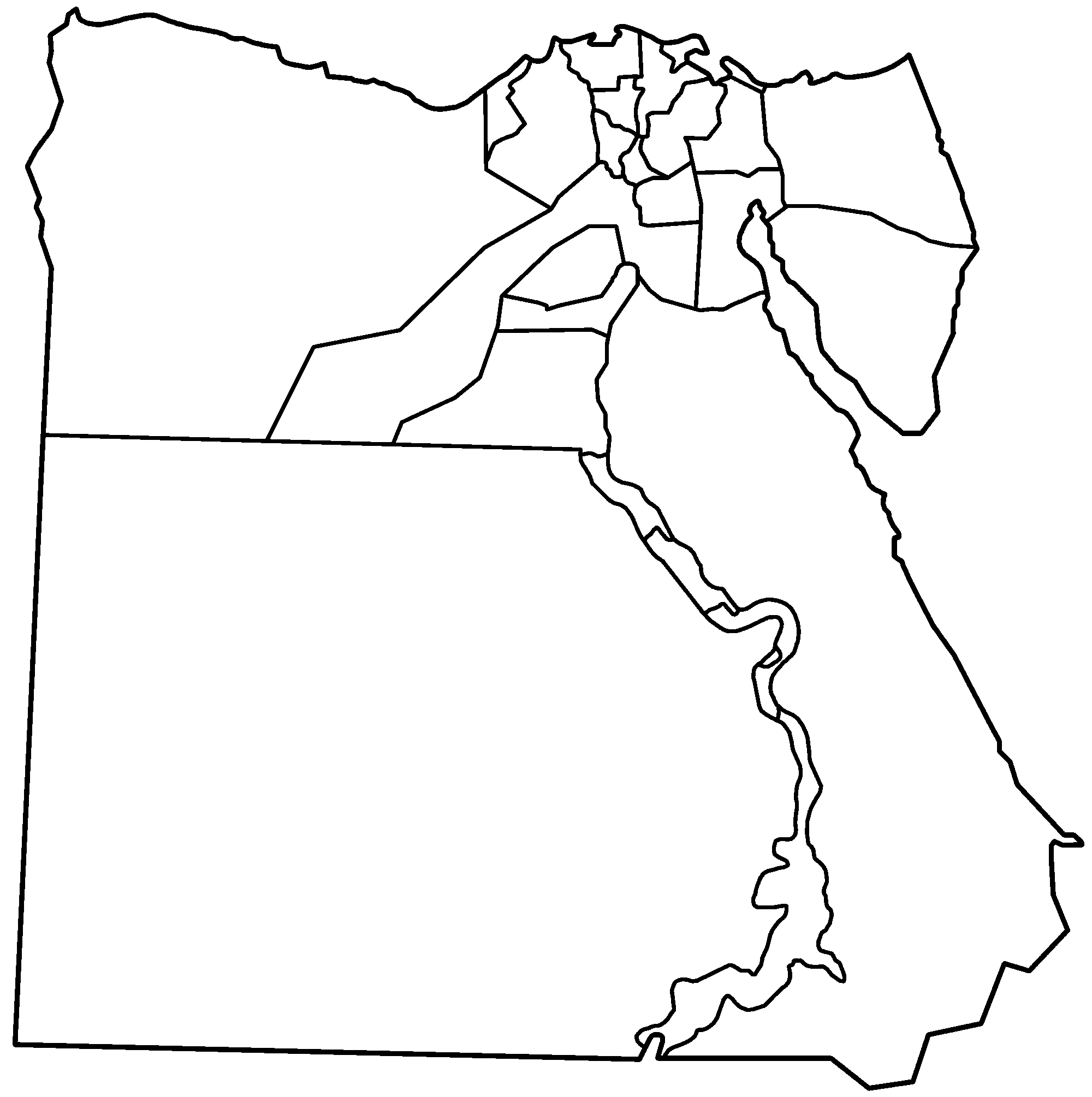 vector black and white stock Egypt drawing black and white. Map at getdrawings com
