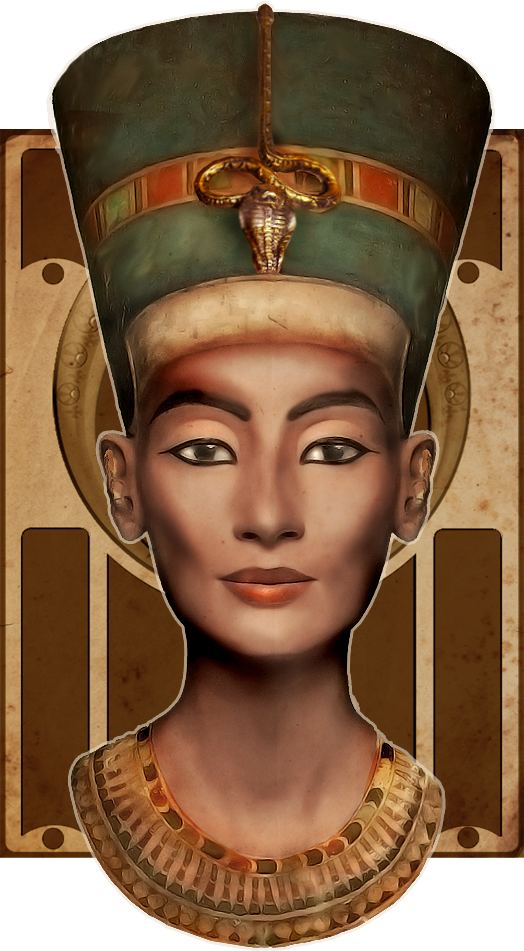 svg freeuse library Egypt drawing portrait. Nefertiti digirestoration by ciro