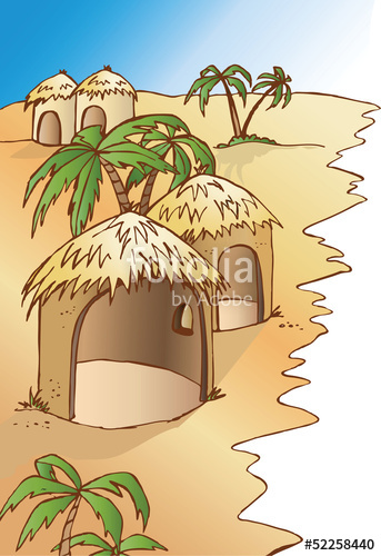 clipart free download African village