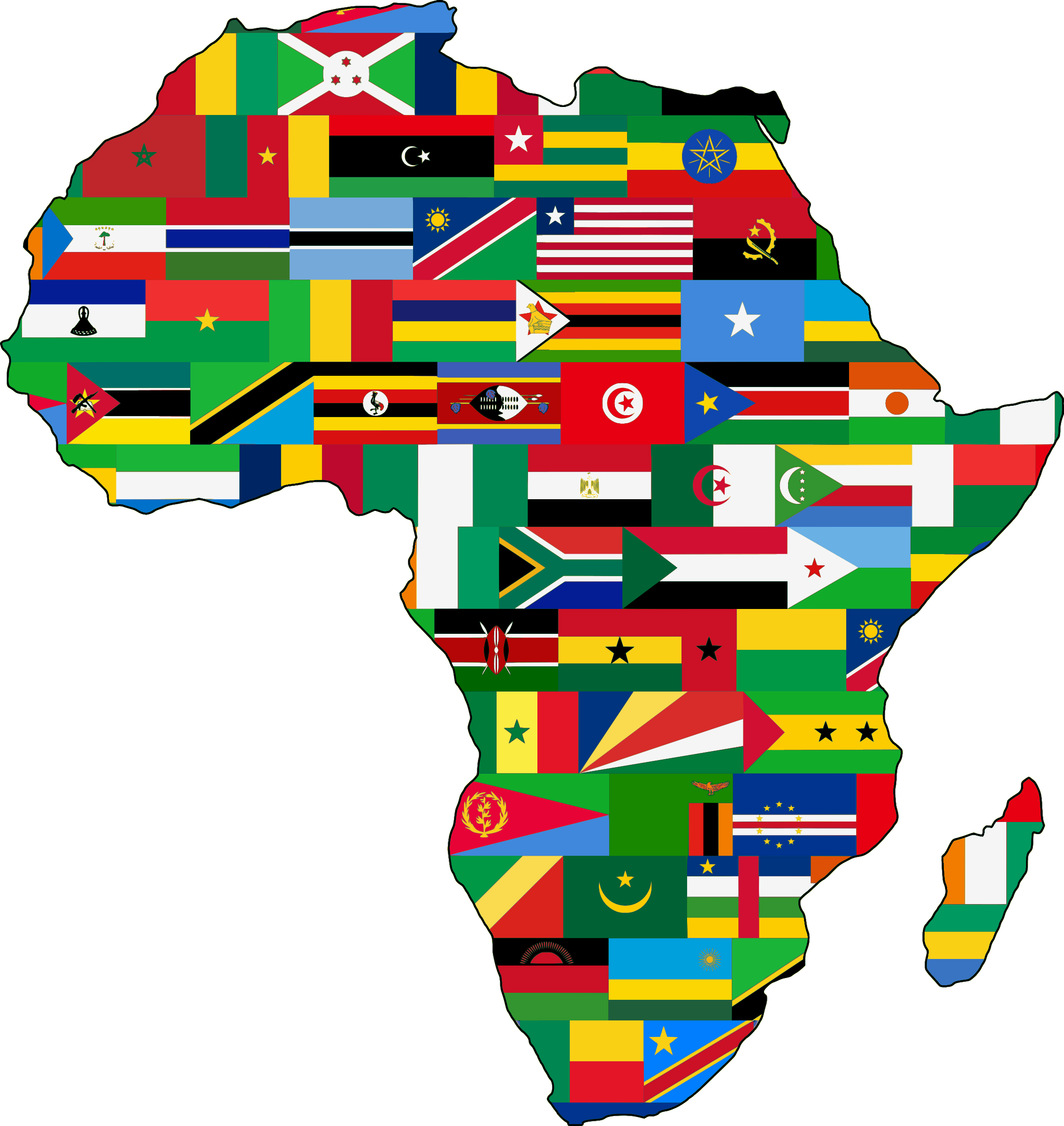 banner freeuse Africa flags by