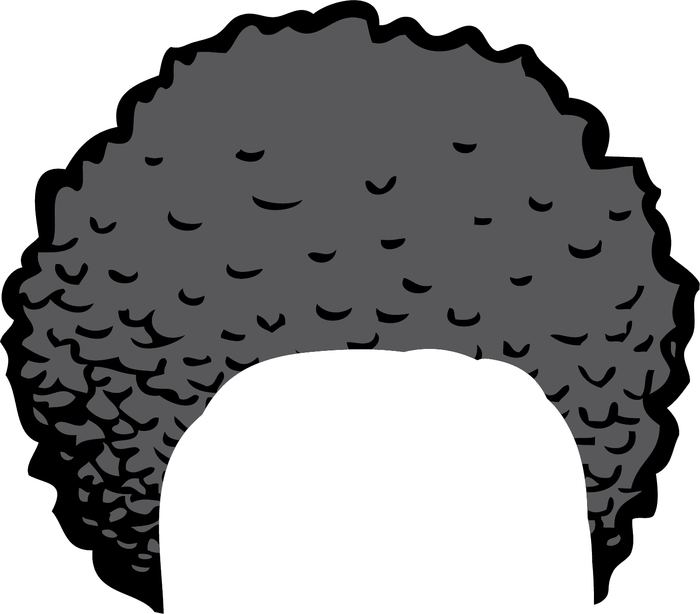 black and white Afro Clipart Pic