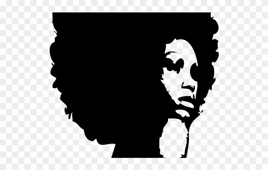 clipart free stock Braid curly black woman. Afro clipart