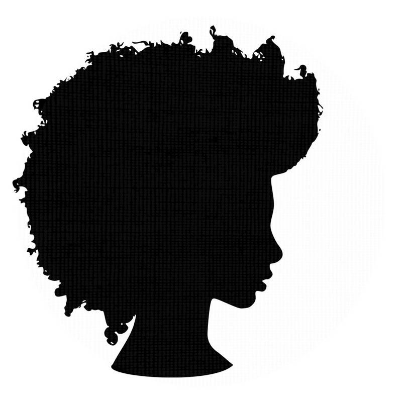 graphic free Afro clipart. Silhouette svg clip art.
