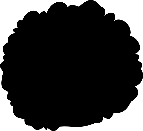 picture black and white stock Afro clipart. Clip art at clker