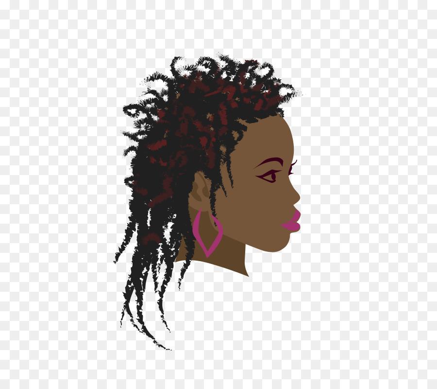 clip art transparent Africa braid woman black. Afro clipart braiding hair.