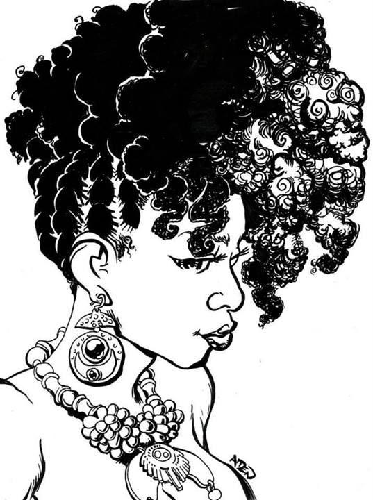 image freeuse download Black girl natural cartoons. Afro clipart braiding hair.