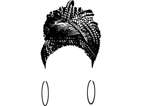 graphic black and white stock Braided african american ethnicity. Afro clipart braiding hair.