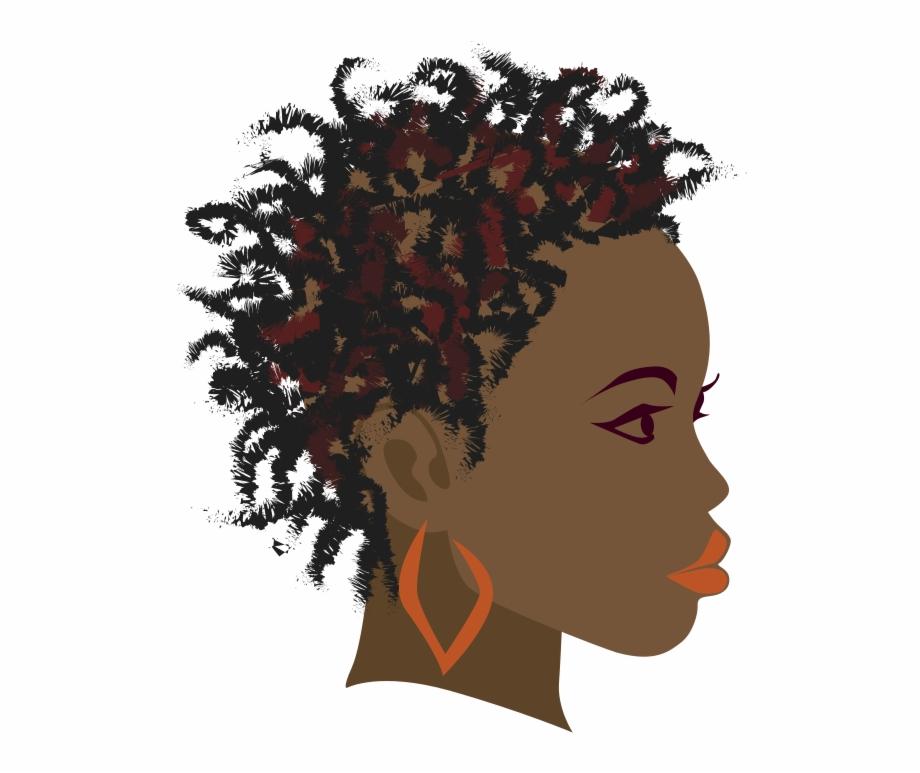 clip art library download Africa braid black girl. Afro clipart braiding hair.