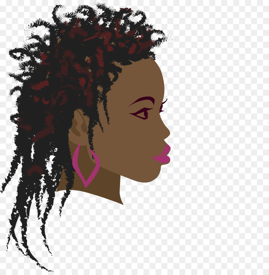 vector black and white download Afro clipart braiding hair. Africa braid woman black.