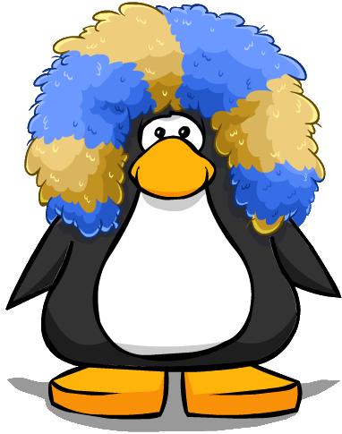 jpg free library Afro transparent club penguin. Imagen peluca gigante carta