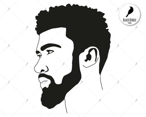 banner freeuse library Black man svg boy. Afro clipart male.