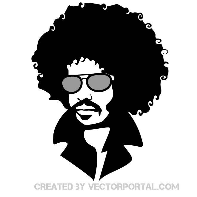picture library stock Afro clipart male. Free man silhouette download.
