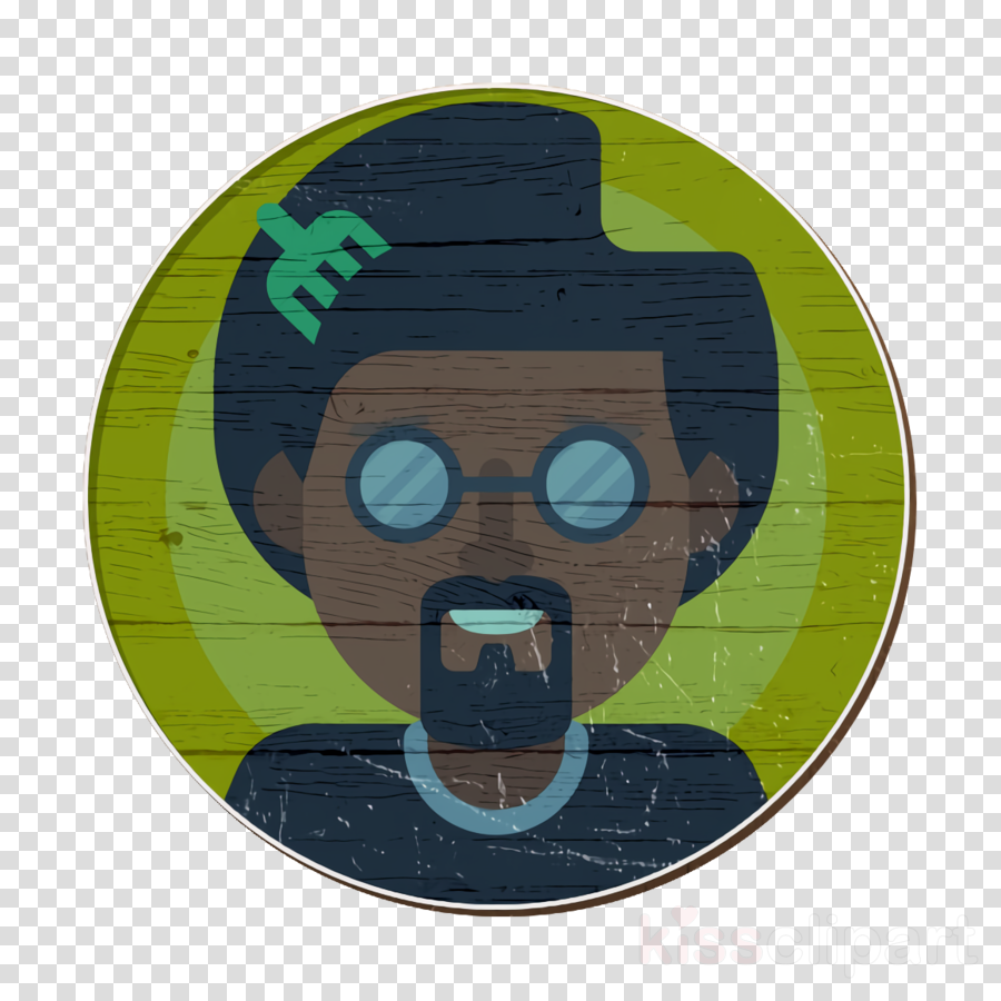 graphic library stock Icon avatar green cartoon. Afro clipart male.