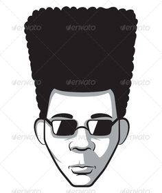 jpg download African american family silhouette. Afro clipart male.