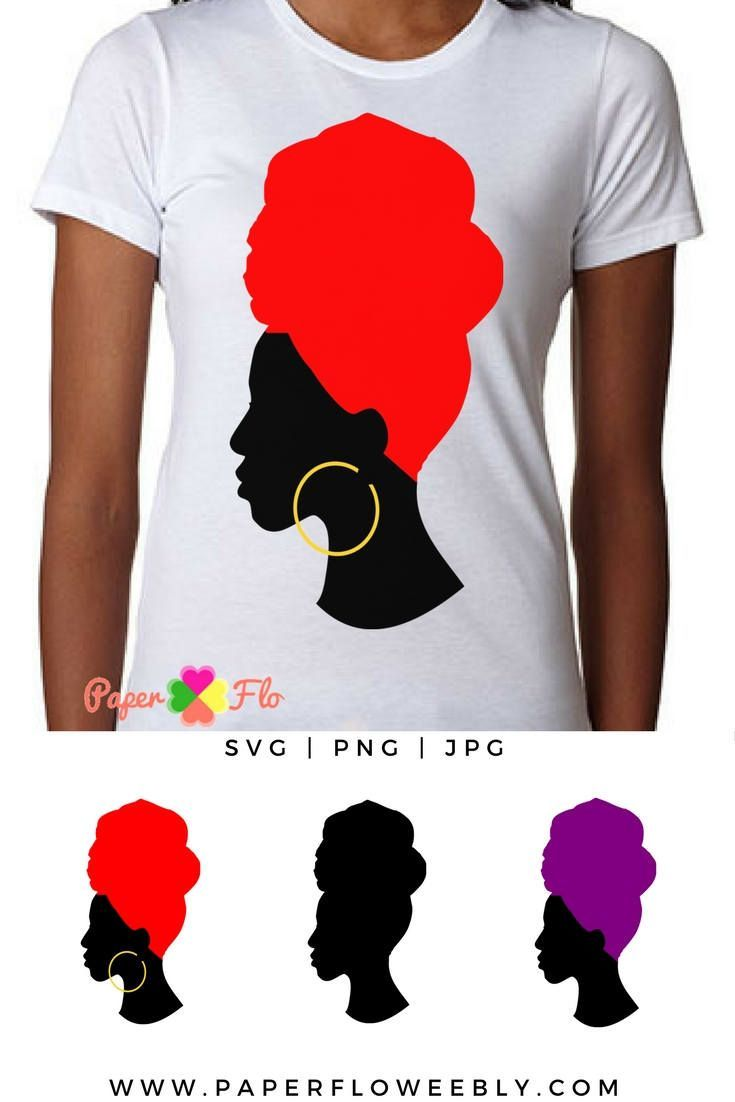 banner library stock Headwrap svg silhouette clip. Afro clipart red.