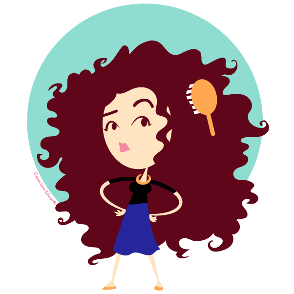 clipart free download Afro clipart red.  cartoon hair for.