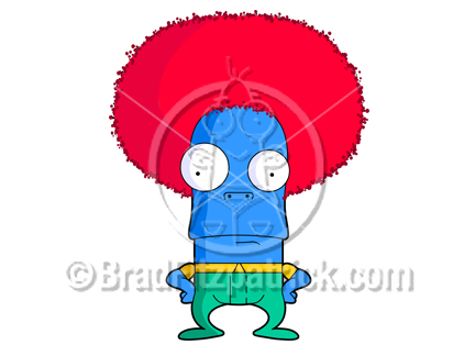 png freeuse stock Cartoon character picture royalty. Afro clipart red.