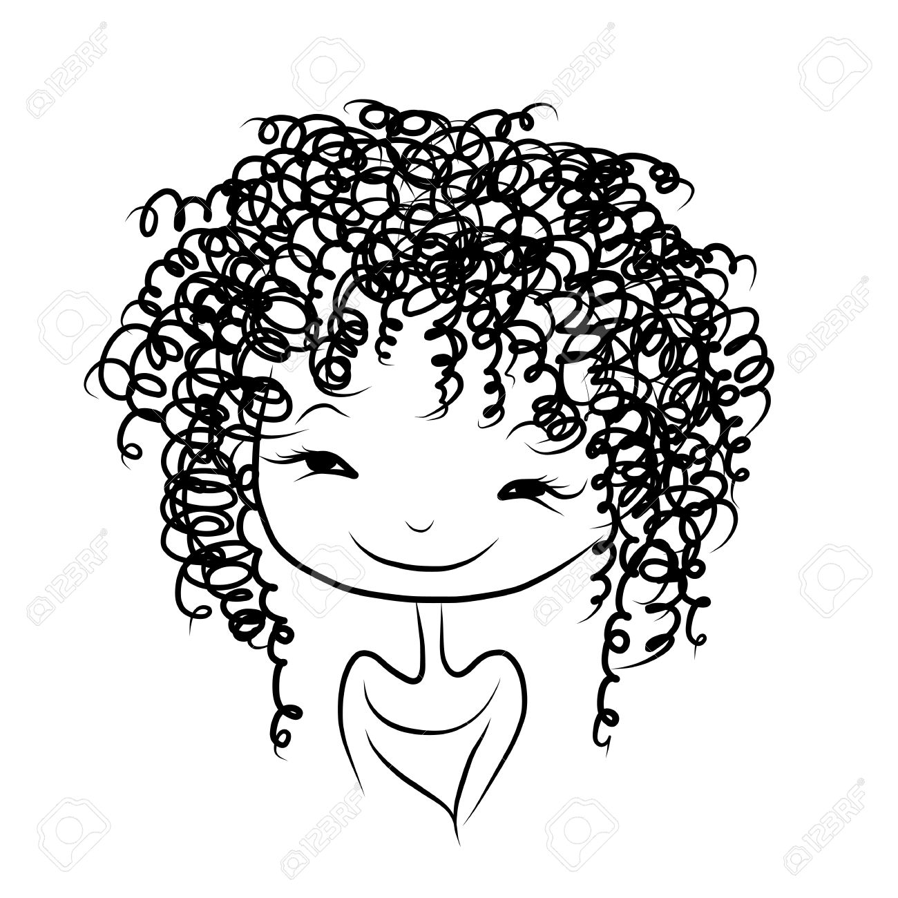 png black and white download Afro clipart sketch. Transparent free for .
