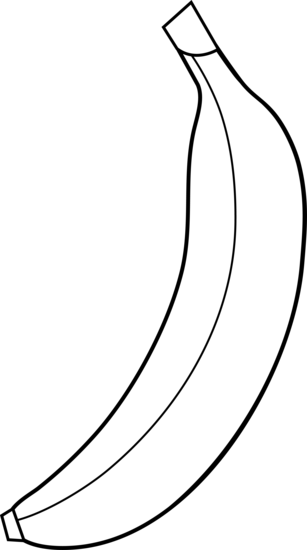svg freeuse download Rf banana clipart for. Bananas drawing outline