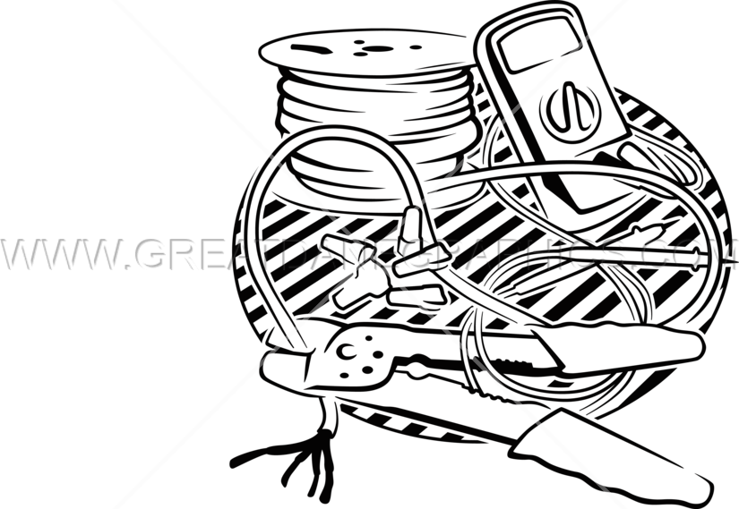clipart black and white download Electrician Drawing at GetDrawings