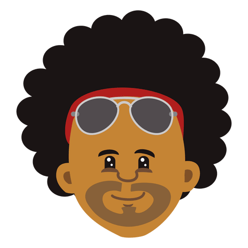 vector freeuse library Black man cartoon head afro