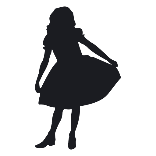 vector free stock Little Black Girl Silhouette at GetDrawings