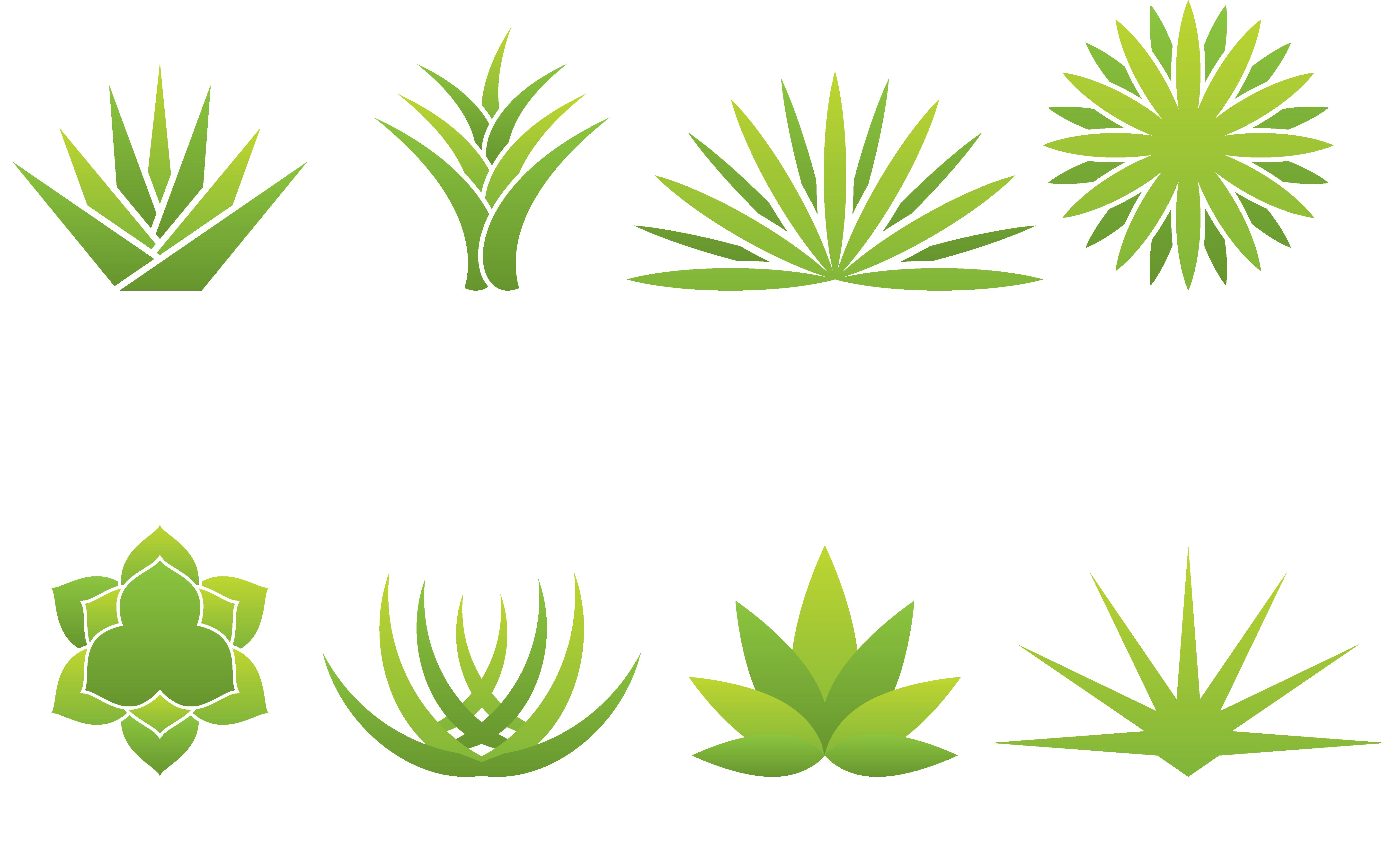 clip art black and white stock Aloe vera Agave Logo