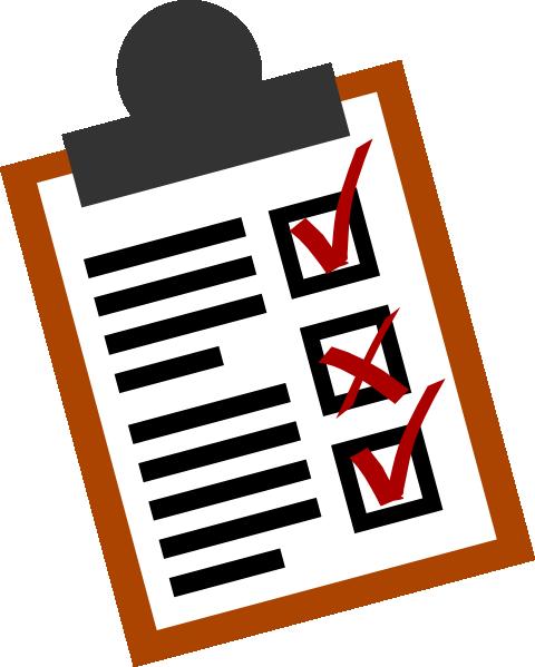 clip transparent Free agenda cliparts download. Checklist clipart science.
