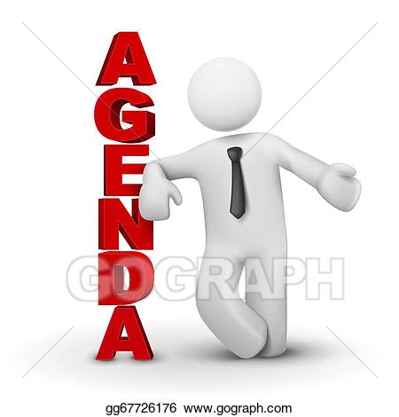 jpg transparent download Vector stock d business. Agenda clipart