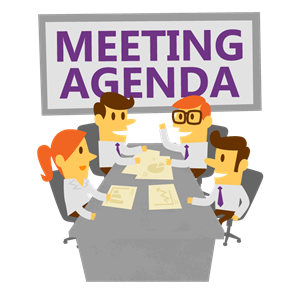 graphic royalty free stock Meeting clipart.  collection of agenda