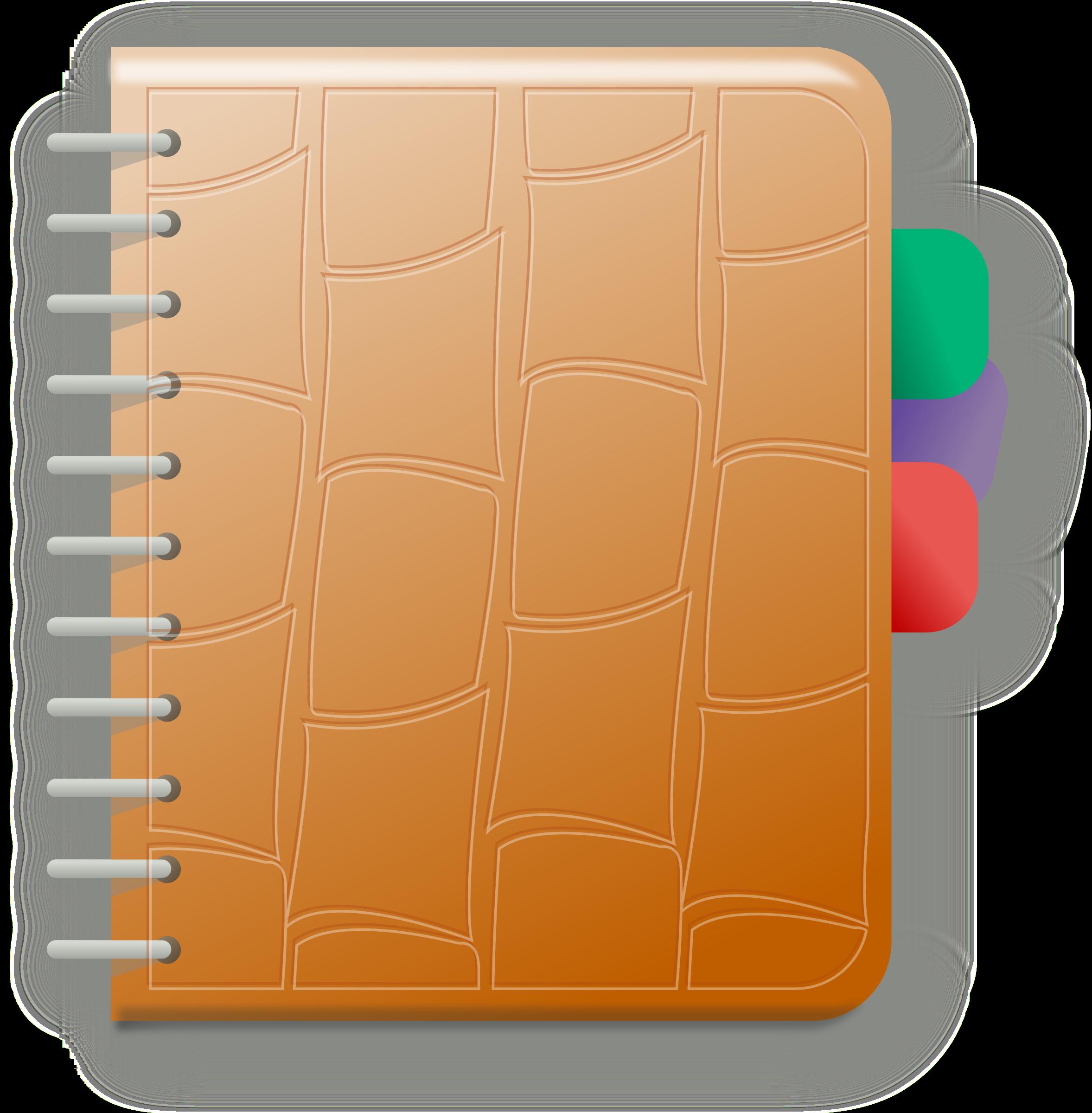 clip art stock Notebook big image png. Agenda clipart