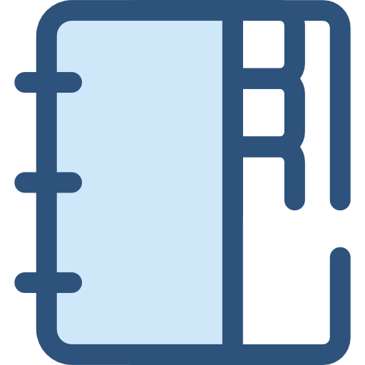image freeuse library Agenda clipart basic education. Address book notebook business