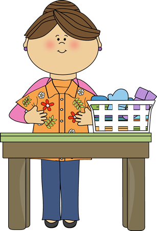 image library Mom folding clip art. Boys clipart laundry