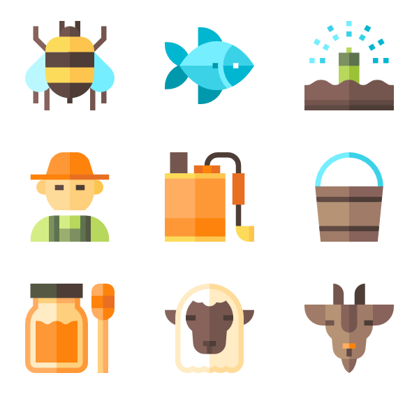 vector black and white stock Icons free vector. Agriculture clipart agro