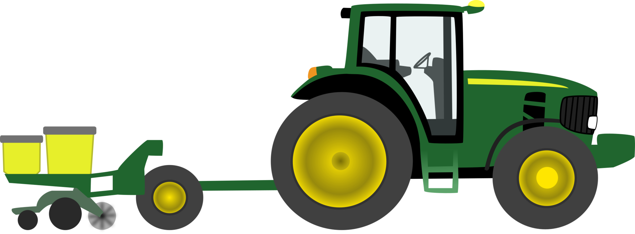 vector transparent download John Deere Tractor Agriculture Farm free commercial clipart