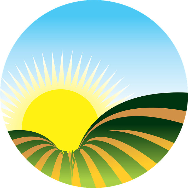 clip royalty free library Clipart farm sunset