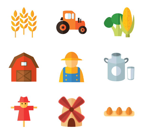 vector transparent stock Farm Icons