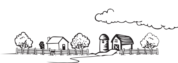 image royalty free Coloring Book Farm Landscape Clip Art at Clker