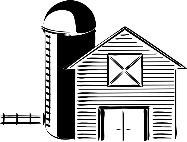 clipart download Drawing storage grain. Silo farming tank clip