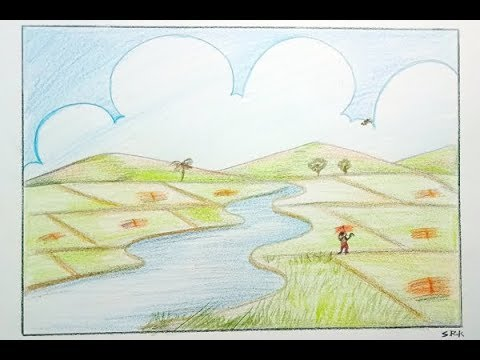graphic royalty free How to draw agriculture scenery