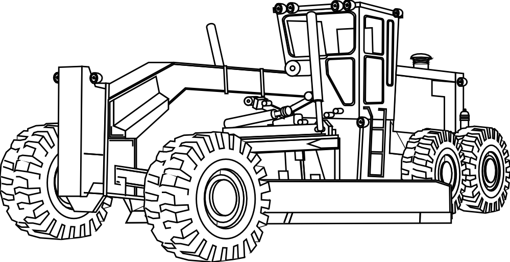 graphic black and white library Books svg coloring. Collection of free tractor