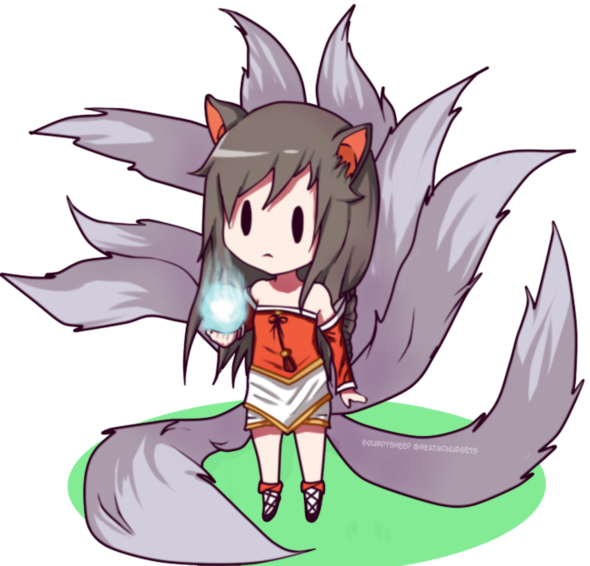 svg black and white library League Of Legends Ahri Chibi by GrumpySheep on Newgrounds