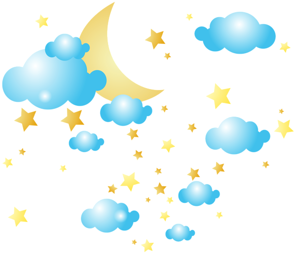 svg Clouds and stars png. Moon clipart sky clipart.